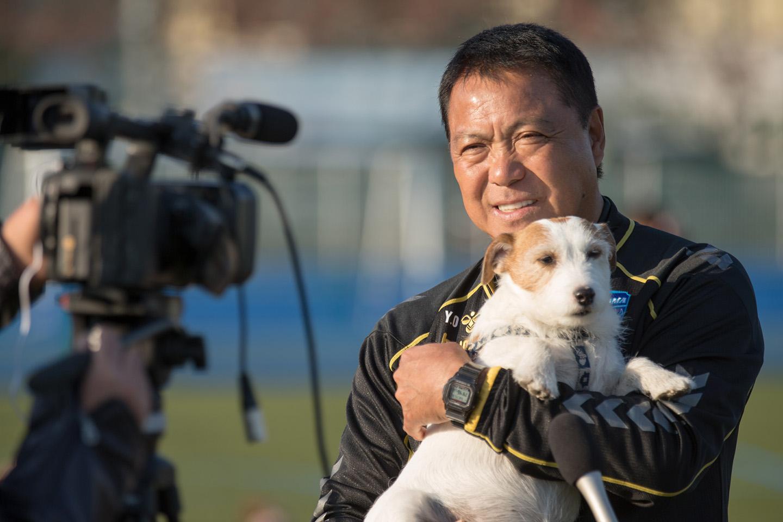 なんと横浜FCの奥寺会長(開催時)も愛犬を連れてきてくれました!
