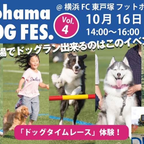 Yokohama DOG FES. Vol.4開催告知